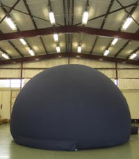 The Fiordland Stardome will fit into most large rooms - especially good for school astronomy projects and presentations